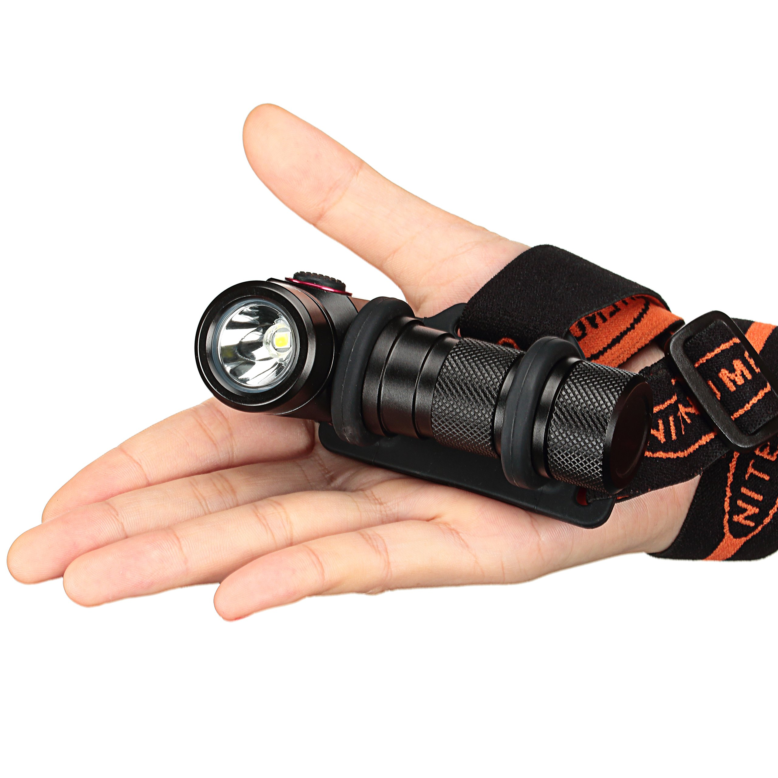USB Rechargeable Headlamp,CREE XP-L V5 LED Super Bright LED Headlamp with Rechargeable 18650 Batteries-nitenumen H01 by NITENUMEN (Image #4)