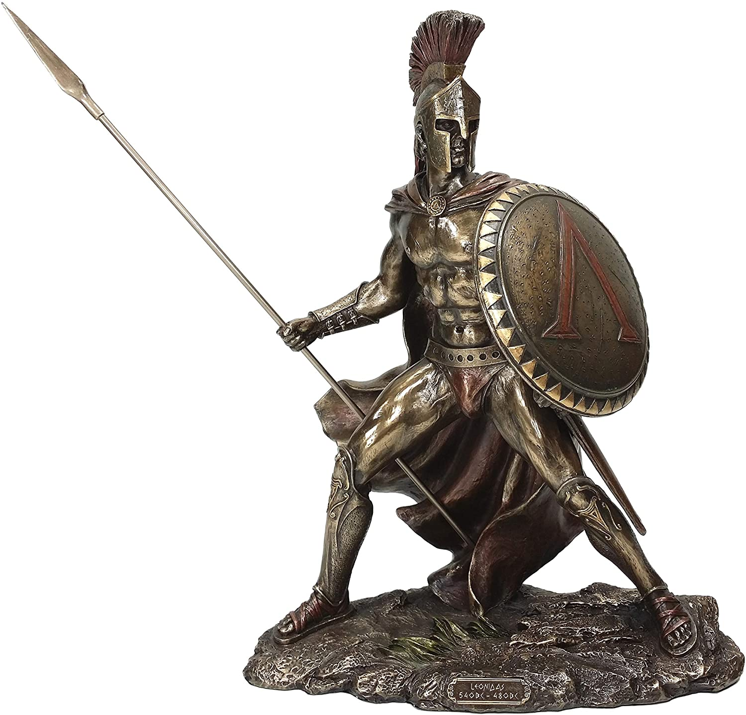 UNICORN STUDIO Greek Military King Leonidas Statue Bronze Finish