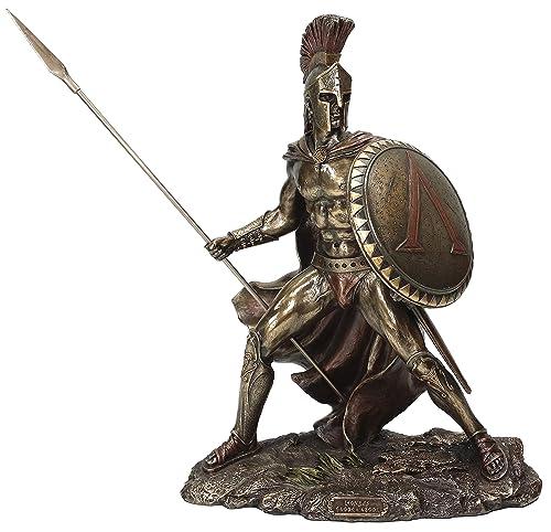 Unicorn Studio Greek Military King Leonidas Statue Bronze Finish
