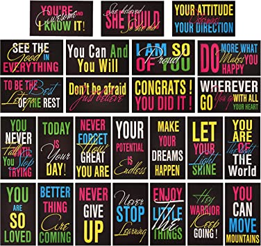 200 Pieces Assorted Motivational Quote Cards 2 x 3.5 Inch Encouragement Business Cards Inspirational Mini Note Cards with 40 Styles for Encouraging Business Kindness Supplies