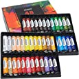 MEEDEN Acrylic Paint Set of 48 Vibrant Colors in Tubes(48 x 22ml), Non Toxic Rich Pigments Colors Great for Artist Kids Adults Students Painting on Canvas Wood Fabric Ceramic Crafts