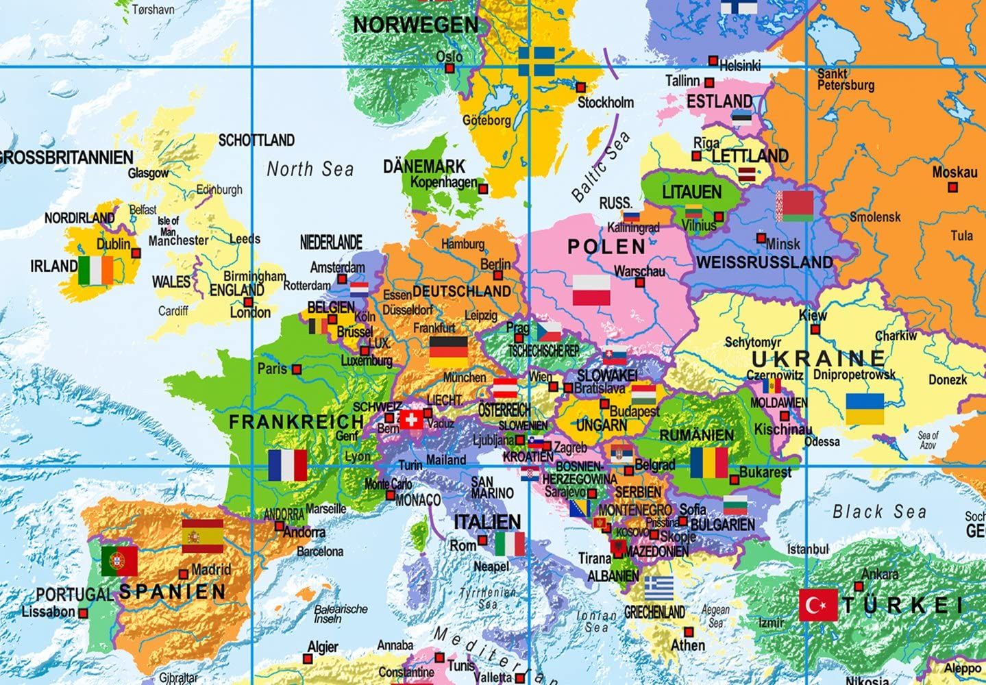 murando englische Weltkarte Pinnwand /& Vlies Leinwand Bild 90x60 cm XXL Bilder mit Kork R/ückwand Set mit 50 Markierf/ähnchen-Pinnnadeln Korktafel Kunstdruck Wandbilder Lernkarte Landkarte k-A-0205-p-a