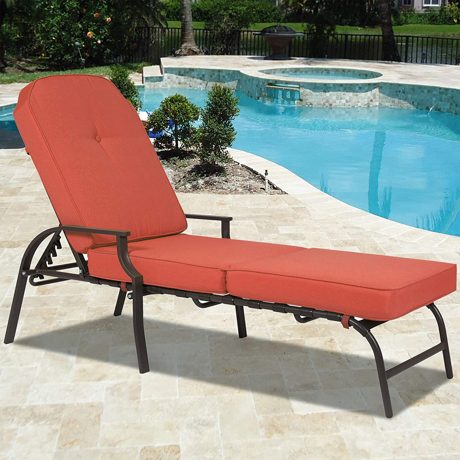 Amazon Best Choice Products Outdoor Chaise Lounge Chair W