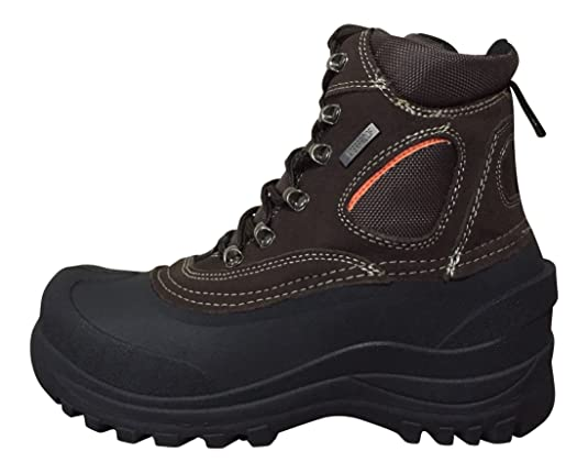 Climate X Mens YC7 Winter Boots Brown/Black 6.5 M US