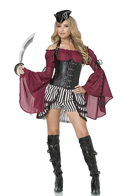 Mystery House Black u0026 White Lady Pirate Costumes  sc 1 st  Deluxe Theatrical Quality Adult Costumes & Sexy Lady Pirate Costumes | Deluxe Theatrical Quality Adult Costumes