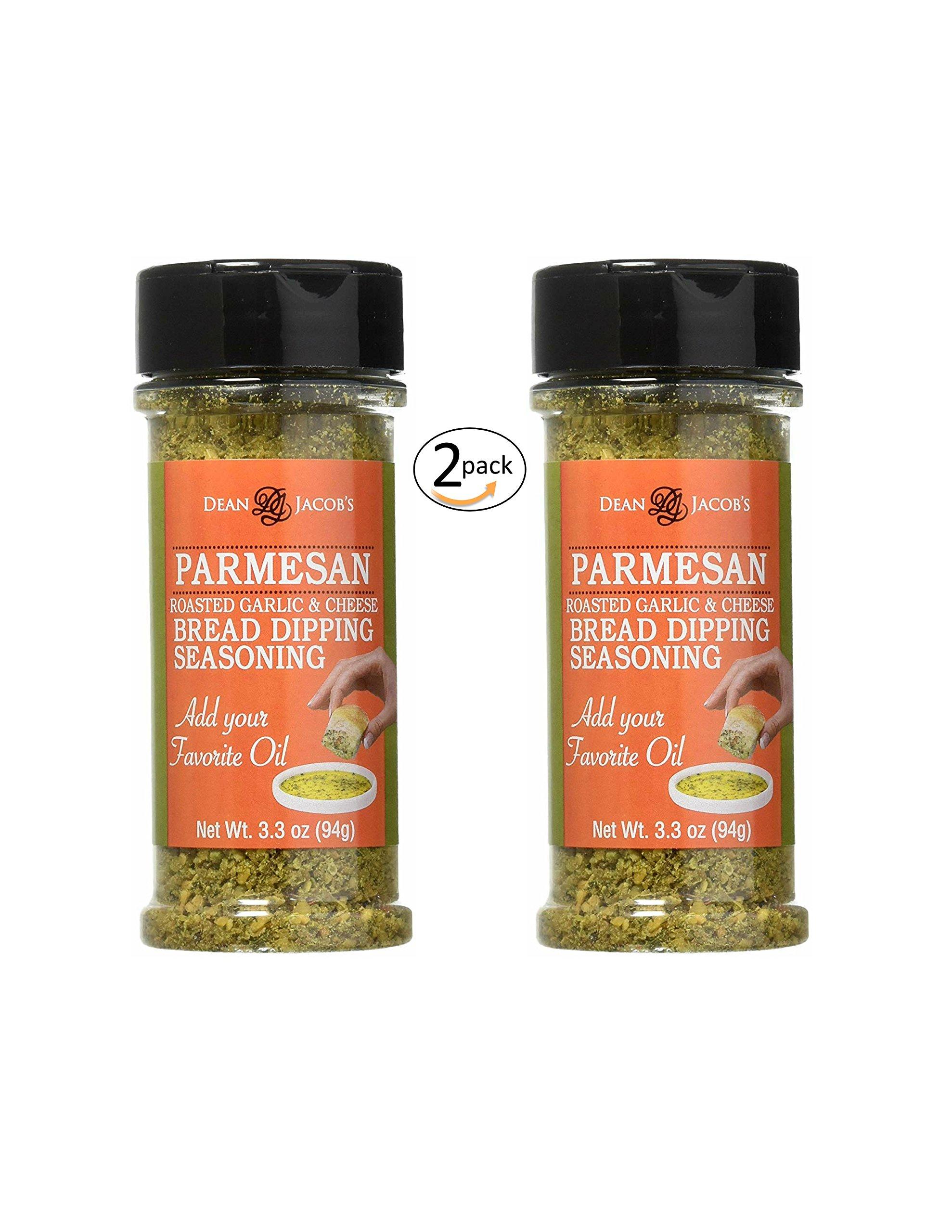 Dean Jacob's Parmesan Bread Dipping Seasoning - 3.3 oz. Stacking jar 2 pack