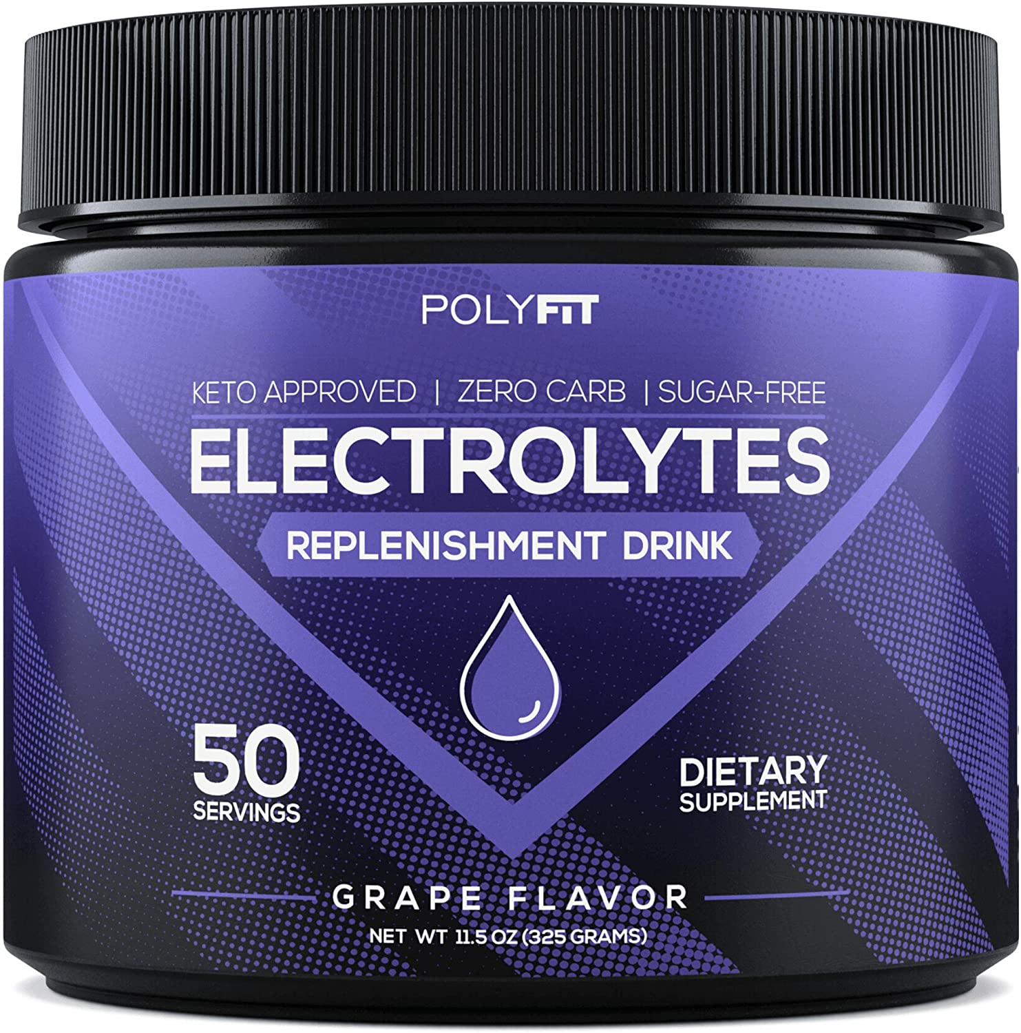 Electrolytes Powder | Sugar Free Electrolyte Replacement Supplement for Hydration | Keto Approved Electrolytes & Minerals Drink Mix | Grape Flavor: Health & Personal Care