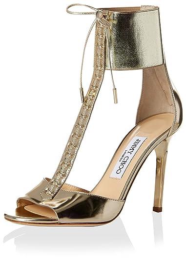 68e4a2a4e5d5 Jimmy Choo Women's Mahine T- Strap Sandal, Champagne, 36 M EU/6 M US ...