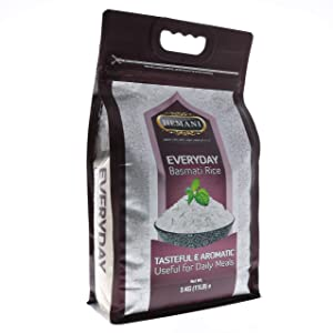 HEMANI Everyday Basmati Rice 11LB - Great Value Savings - 1 LB FREE - Tasteful & Aromatic - Useful for Daily Meals