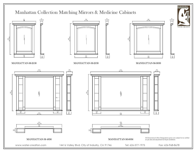 Superieur Water Creation MANHATTAN MC 4836 Manhattan Collection Matching Medicine  Cabinet For Manhattan48 Bathroom Vanity     Amazon.com