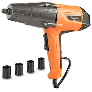 VonHaus 8.5 Amp 1/2-inch Electric Impact Wrench Set with Hog Ring Anvil and Carry Case - 260ft-lbs Torque