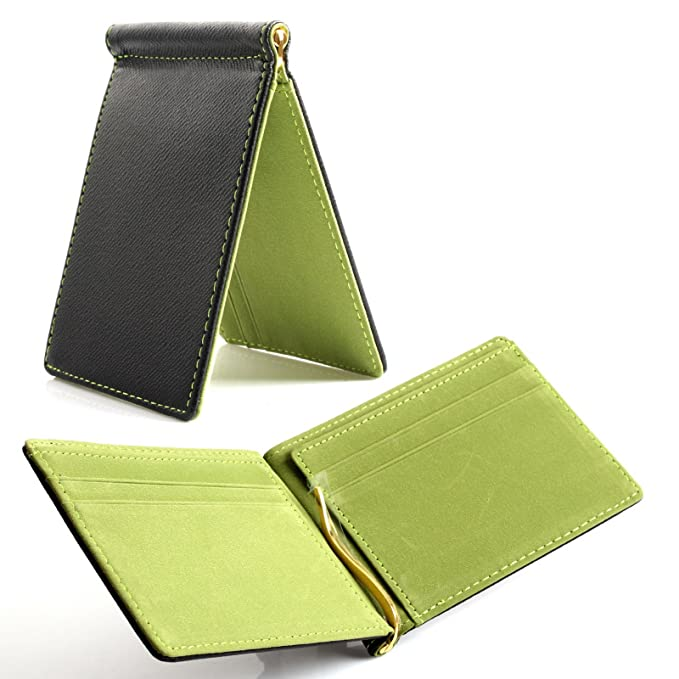 3fd143780f2c Image Unavailable. Image not available for. Color: [YJ Global] Men's Slim Wallet  Money Clip Card Holder Green ...