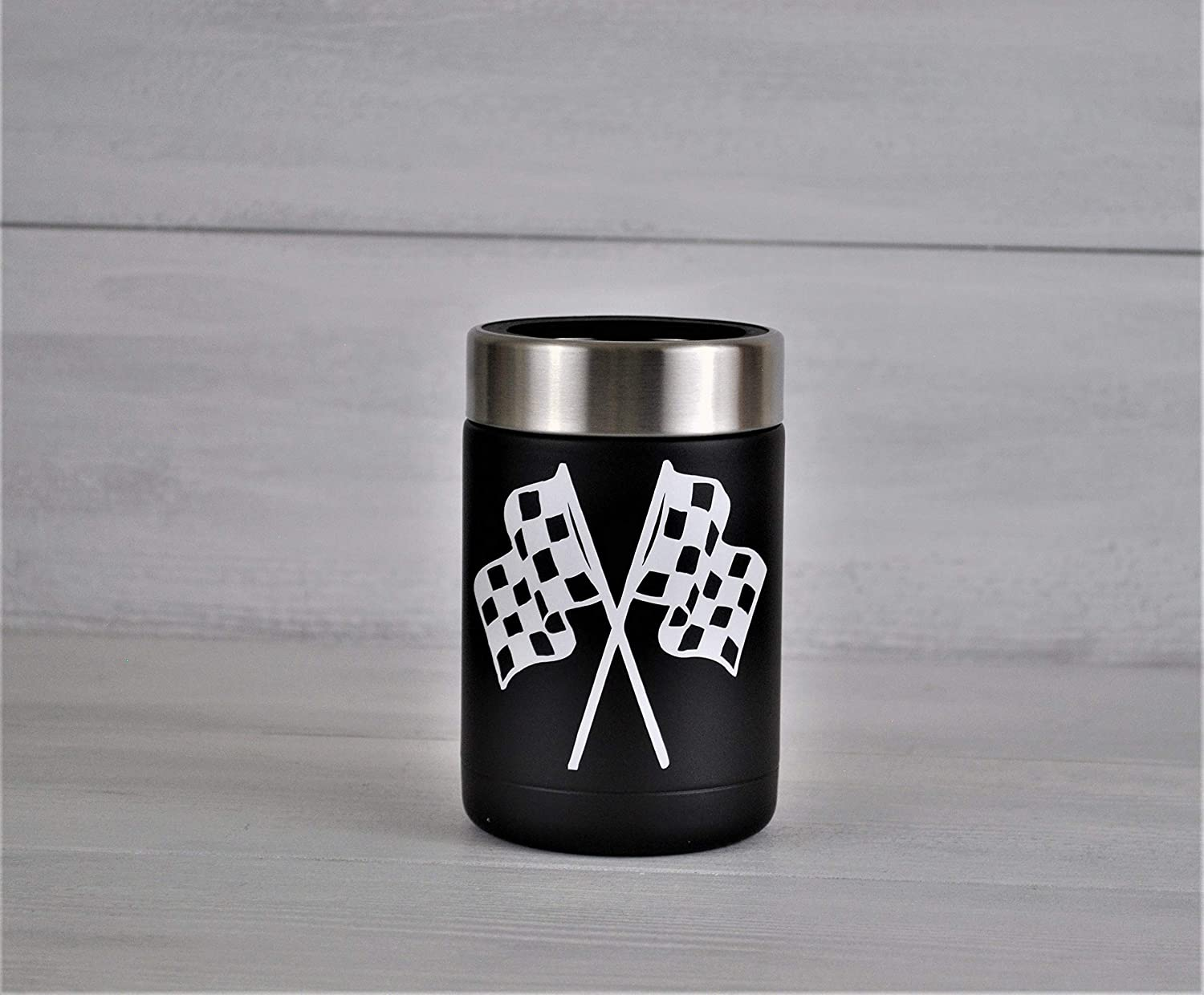 Racing Gift Nascar Gift Rtic Can Cooler Fathers Day gift,Dirt Track Racing,Beer cooler,Motorsports Beer Gift Checkered Flags Can Cooler