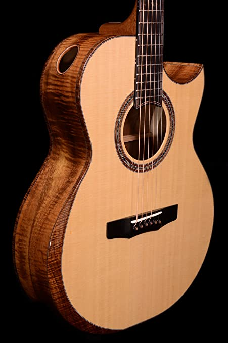 The Acoustic/KOA mid-depth SJ – Cuerdas de acero de guitarra ...