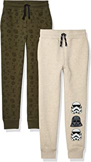Amazon Brand - Spotted Zebra by Star Wars - Boys' Toddler & Kids 2-Pack Fleece Jogger Pants