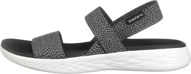 Decir a un lado probable Mejorar  Amazon.com | Skechers Women's On-The-Go 600 Ideal Sport Sandal Blk/Wht 8 M  US | Sport Sandals & Slides
