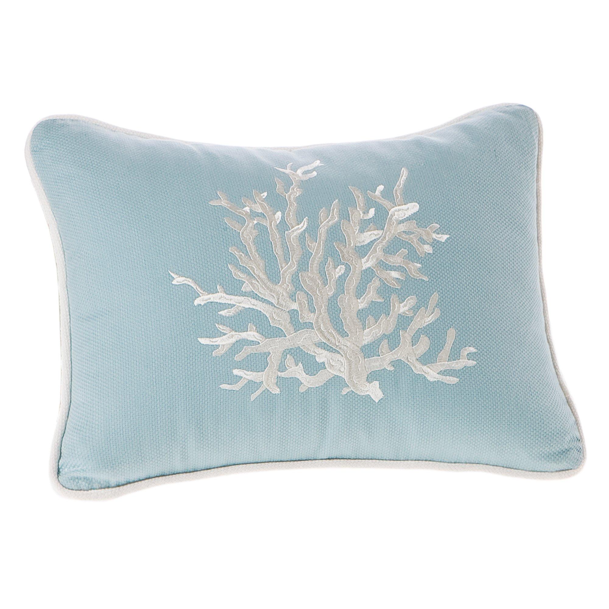 Harbor House Coastline Fashion Cotton Throw Pillow, acquard Oblong Decorative Pillow, 12X16, Blue by Harbor House