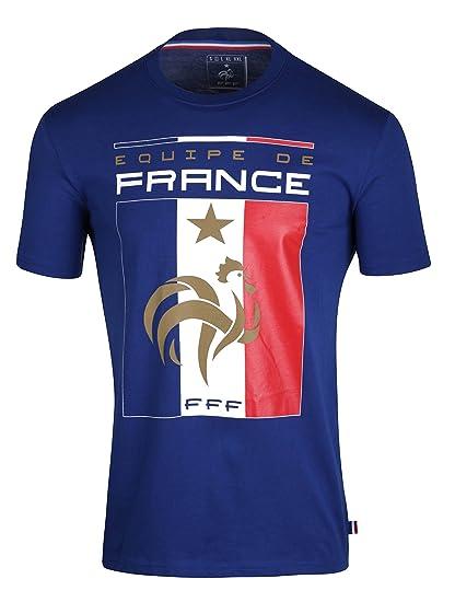 Camiseta de la FFF - colección oficial del Equipo de Fútbol de Francia para hombre, talla de adulto, Hombre, azul, XXL: Amazon.es: Deportes y aire libre