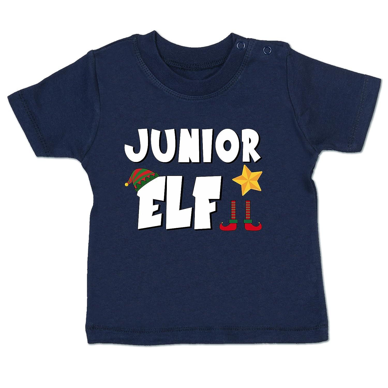 Weihnachten Baby - Partnerlook Junior Elf - Babyshirt Kurzarm Shirtracer BZ02