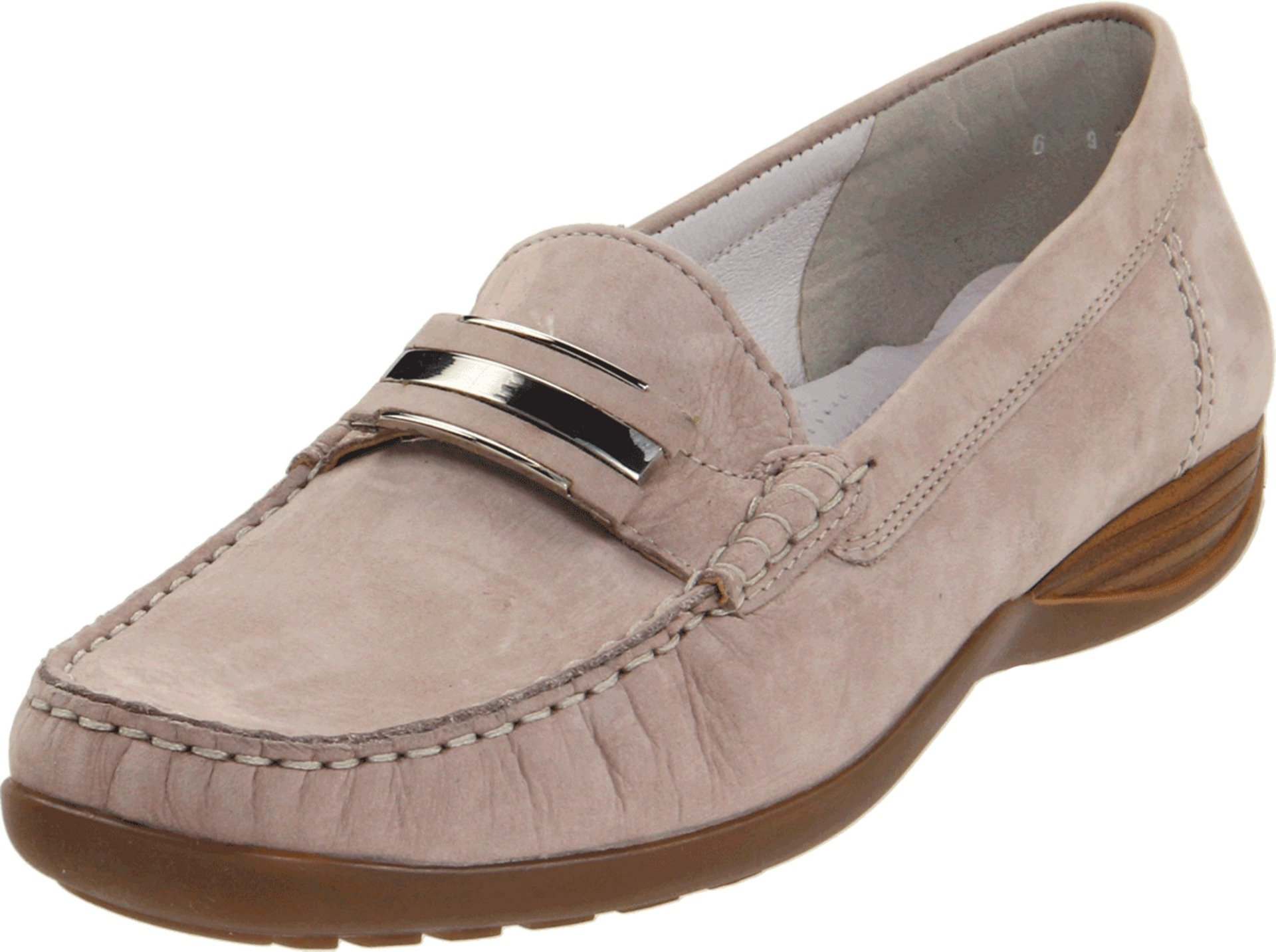 ara Women's Portland Loafer,Light Grey Leather,7 M US