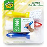 Crayola My First Jumbo Paint Brushes, multicolour, Jumbo, 3 Pieces