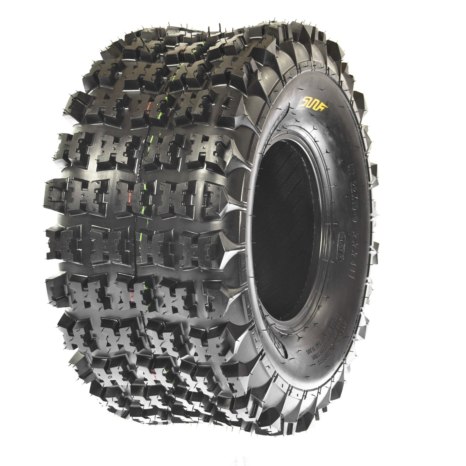 Set of 2 SunF A027 ATV Tire 22x11-9 Rear, 6 Ply by SunF (Image #3)