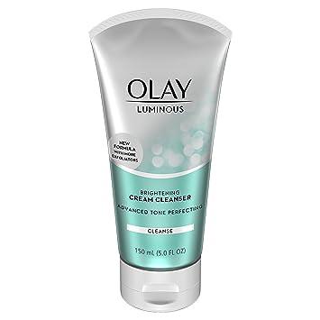 Olay Luminous Brightening Cream Face Cleanser, 5.0 fl oz Cle De Peau - Gentle Protective Emulsion SPF 22 - 125ml/4.2oz