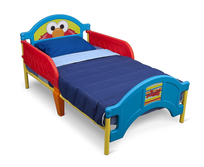 Amazon.com : Delta Children Plastic Toddler Bed, Sesame Street ...