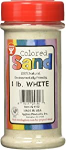Hygloss Products Colored Play Sand - Assorted Colorful Craft Art Bucket O' Sand, White, 1 lb