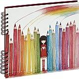 Panodia 271167 Crayons Artist Album Traditionnel pour 80 Photos  Blanc 25 x 23