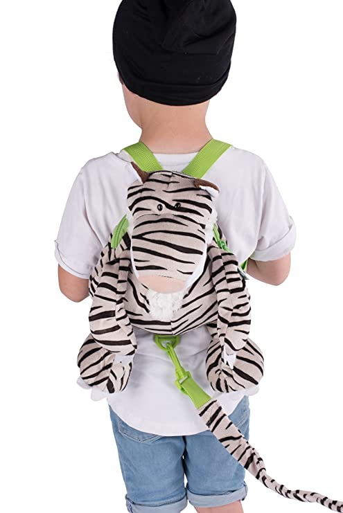 Animal Planet 2 in 1 Harness Backpack, White Tiger, Child Leash, Baby Walking