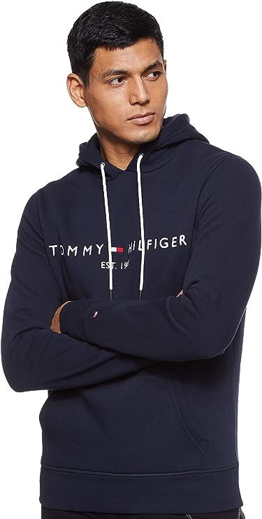 TALLA L. Tommy Hilfiger Tommy Logo Hoody sudadera para Hombre