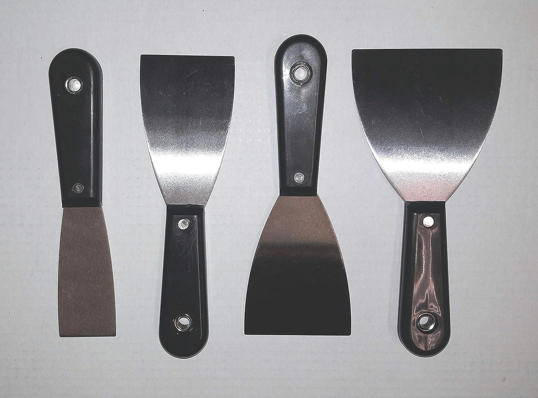 Spatule Kit 4 piè ces 4– 6 de 8– 10 cm Couteau-spatule avec poigné e en plastique Quality Products