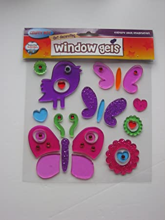 Window gel stickers birds butterflies