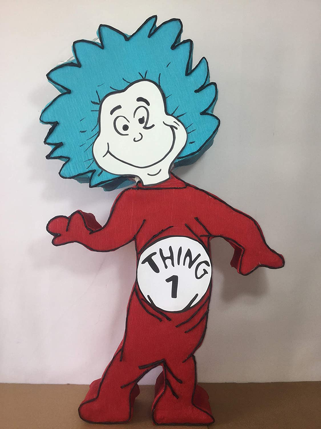 Thing 1 or thing 2 pinata, cat in the hat birthday party, Dr Seuss birthday party