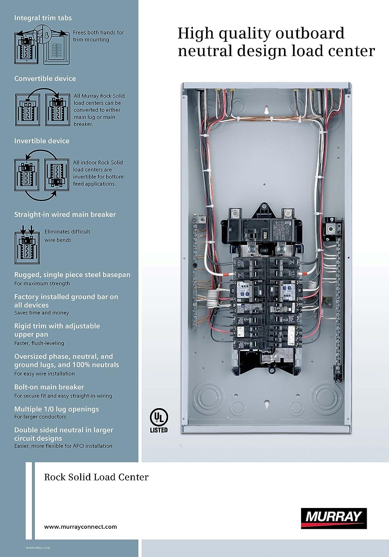 main lug panel wiring diagram murray lc1224l1125 load center  12 space  24 circuit  125a  main  murray lc1224l1125 load center  12