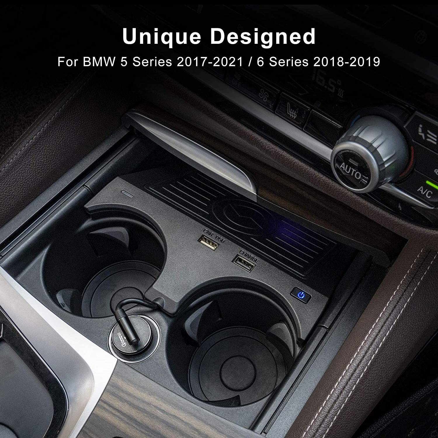 G31 Wireless Charger for BMW 5 Series M5 2017-2021//6 Series M6 2018-2019 Accessories Phone Wireless Charging Pad Mat fit for BMW G30 G32 F90 G38