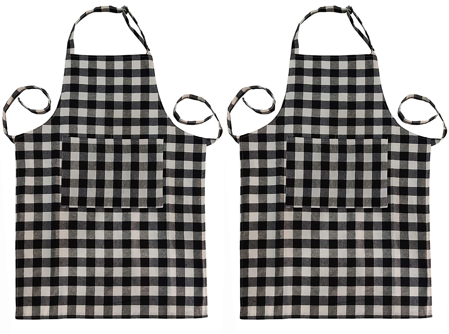 GLUN WATERPROOF COTTON APRON WITH ADJUSTABLE NECK BELT PACK OF 2