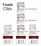"""T-Lock TM 1/32"""" (1mm) 250 Clips"""" PERFECT LEVEL"""