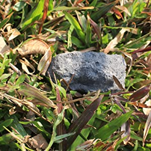 HOMPAL Hide-a-Spare-Key Fake Rock - Looks & Feels Like Real Stone Safe for Outdoor Garden or Yard, Geocaching 4