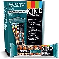 KIND Bars, Dark Chocolate Nuts & Sea Salt, Gluten Free, Low Sugar, 1.4oz, 4 Count