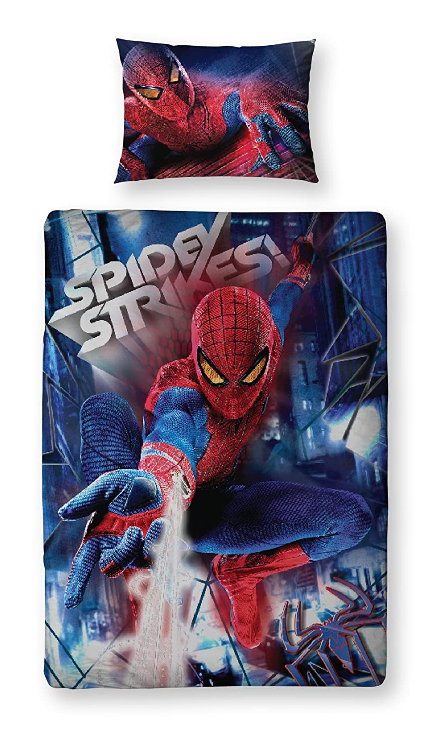 Character World 135 x 200 cm The Amazing Spider-man Movie 3D Single Panel Duvet Set DSP-MOV-DS3-MSC-06GI