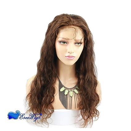 Eseewigs # 4 Color Lace Front Pelucas de cabello humano Brazilian Remy 100% cabello humano