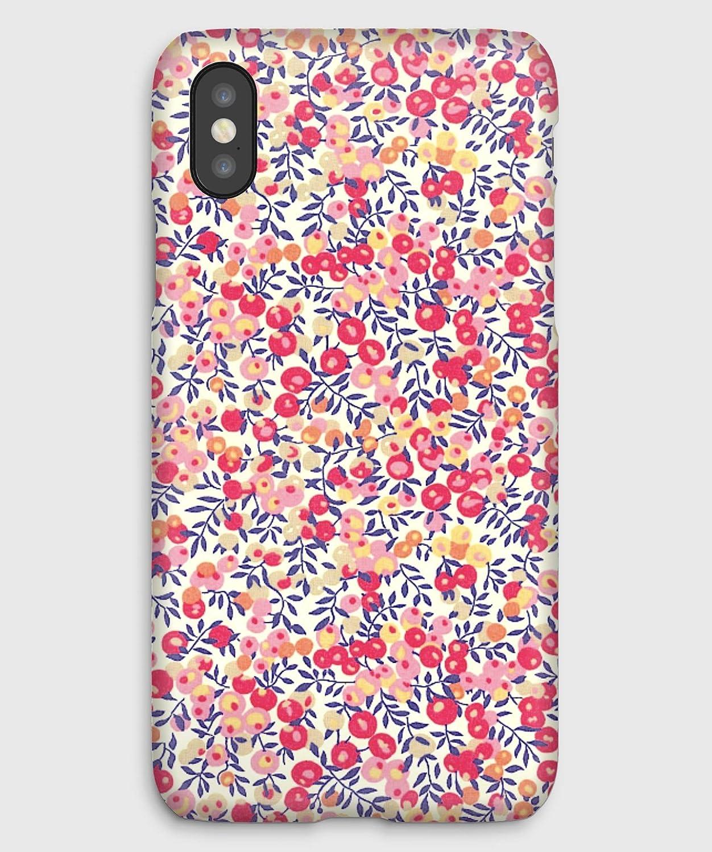 Liberty Wiltshire Pois de senteur, coque pour iPhone XS, XS Max, XR, X, 8, 8+, 7, 7+, 6S, 6, 6S+, 6+, 5C, 5, 5S, 5SE, 4S, 4,