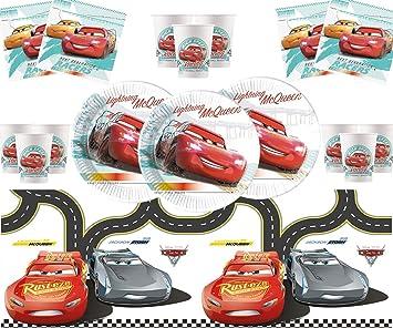 Cars Party Supplies Set de vajilla de cumpleaños para niños ...