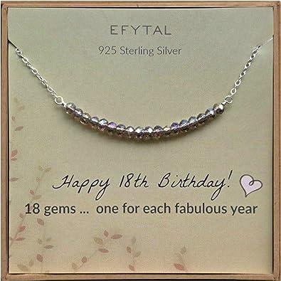 Amazon.com: EFYTAL - Collar de plata de ley para niñas de 18 ...
