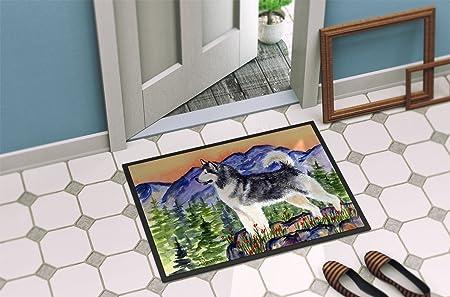 Caroline S Treasures Ss8157jmat Alaskan Malamute Indoor Or Outdoor Mat 24x36 Doormat 24h X 36w Multicolor Caroline S Treasures Home Kitchen