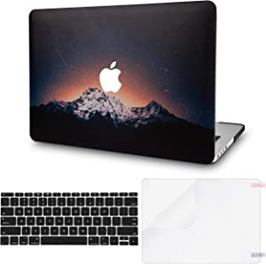 "LuvCase 3 in 1 Laptop Case for Old MacBook Pro 13"" Retina Display (2015/2014/2013/2012) A1502/A1425 Hard Shell Cover, Keyboard Cover & Screen Protector (Shooting Stars)"