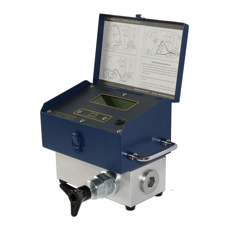 XZT 6000PSI 200 GPM Inline Digital Hydraulic Flow Meter,Hydraulic Pressure Test kit Pump,Cylinder,Hydraulic Valve,Motor 800L //200Gallon Flow Test for Excavator