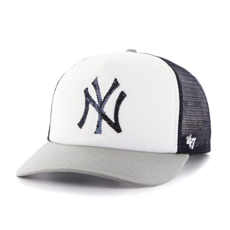 286684ff '47 MLB New York Yankees Women's Glimmer Captain Adjustable Snapback Hat,  Navy